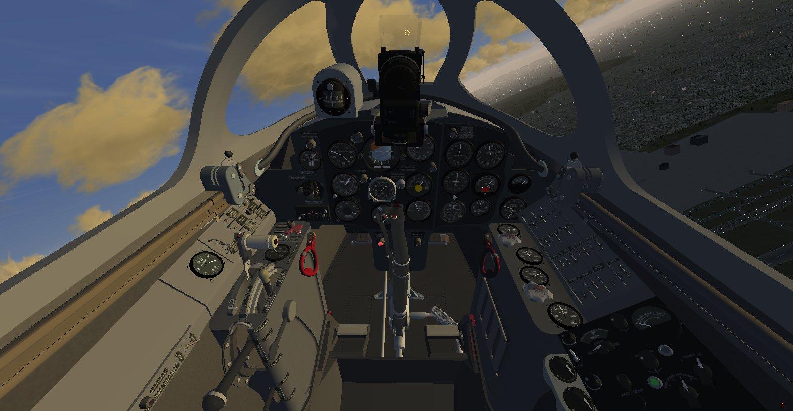 МиГ-15, вид кабины